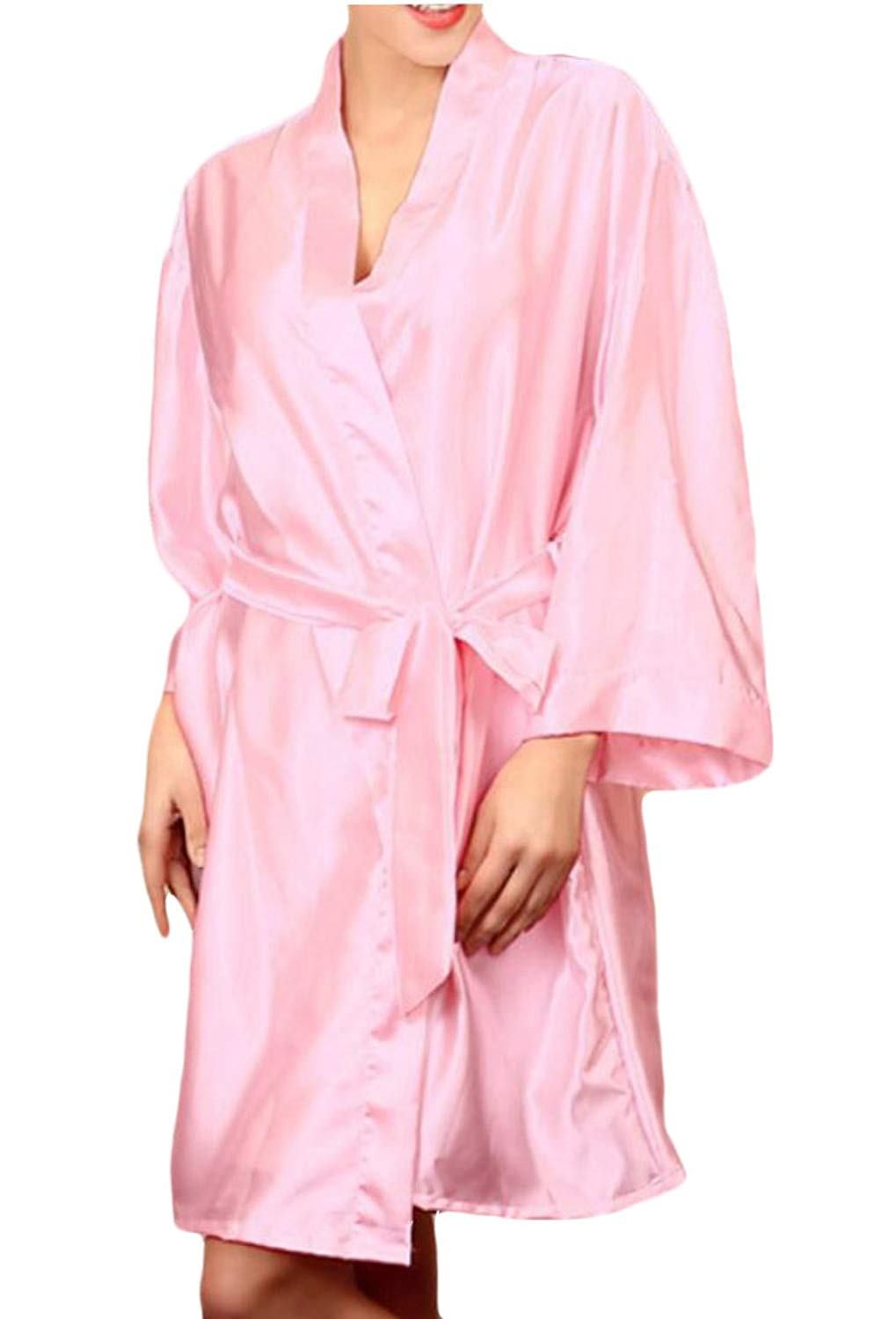 Get Quotations · Jofemuho Women Plus Size Satin Pure Color Sleepwear  Nightgowns Nightgowns 6716b9f7a
