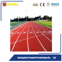 13mm full PU type track and field sport flooring surface