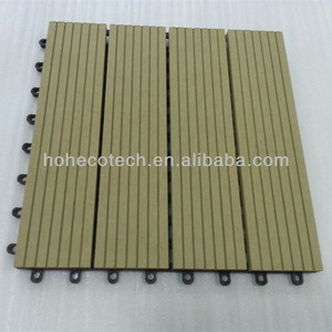 Various beautiful easy board tile , hot sale interlocking composite deck tiles