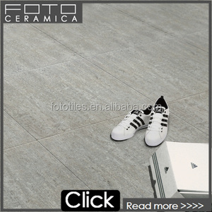 French grey parquet cement look glazed flooring tile