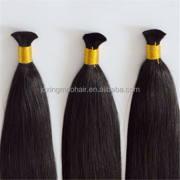 Grade 8a virgin brazilian hair 100% human braiding hair bulk no weft