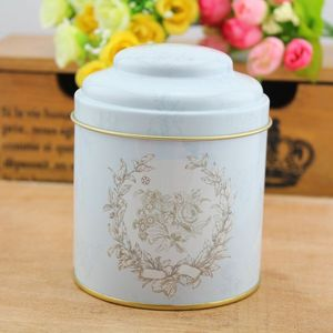 R1126H Hot-selling small metal tin box double lids round tea coffee tin box