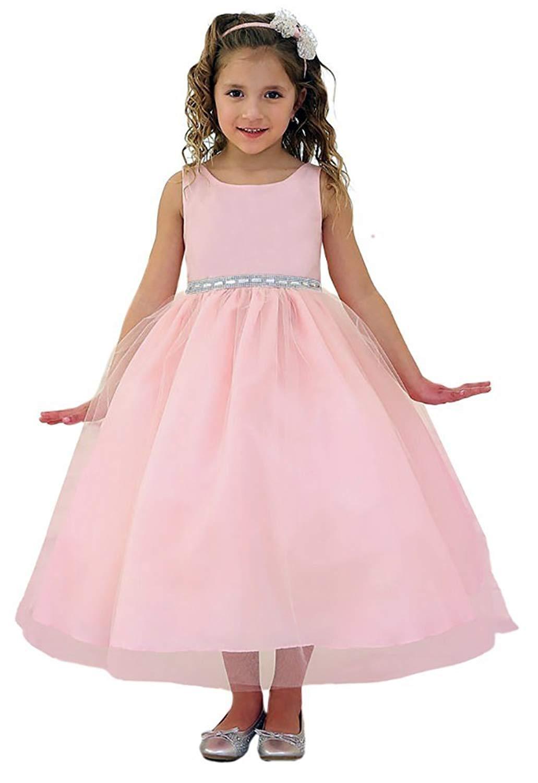 Buy Flower Girl Dress Light Pink Tulle Wedding Dress For Little Girl