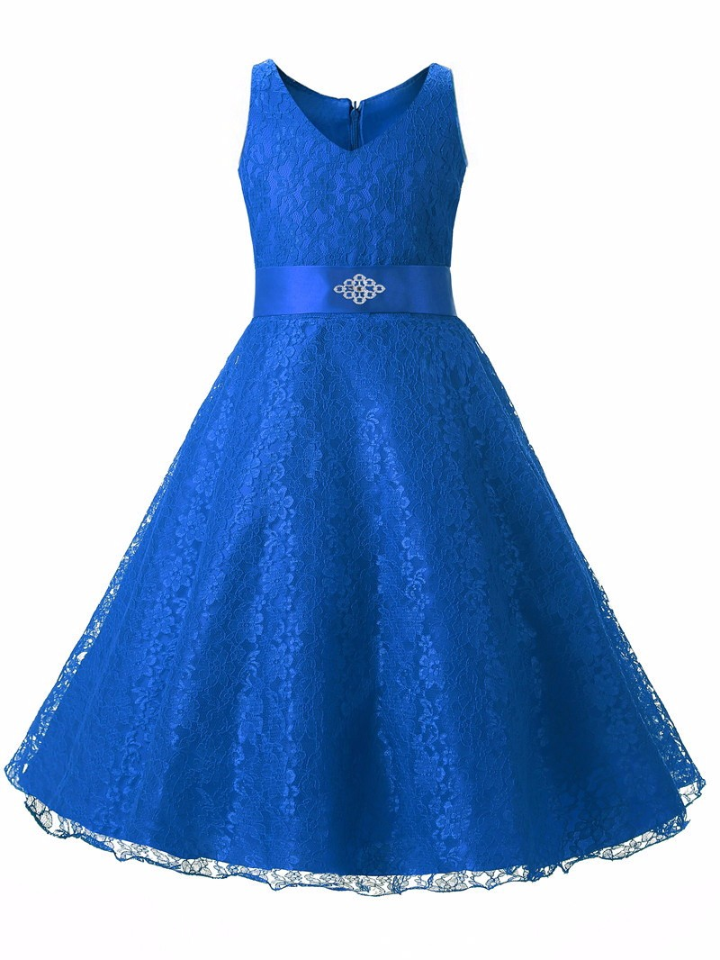 Summer Girls Party Dress 2017 New Designer Children Teenagers Prom Ceremonies Gowns Dresses Birthday Princess Dress 12 years