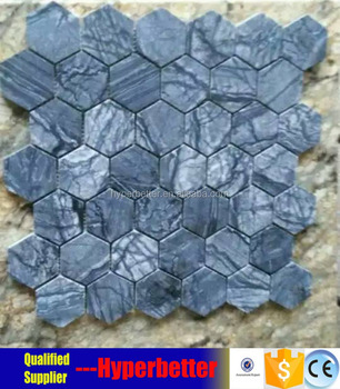 The professional hexagonal Antique wood marble mosaic tiles for sale