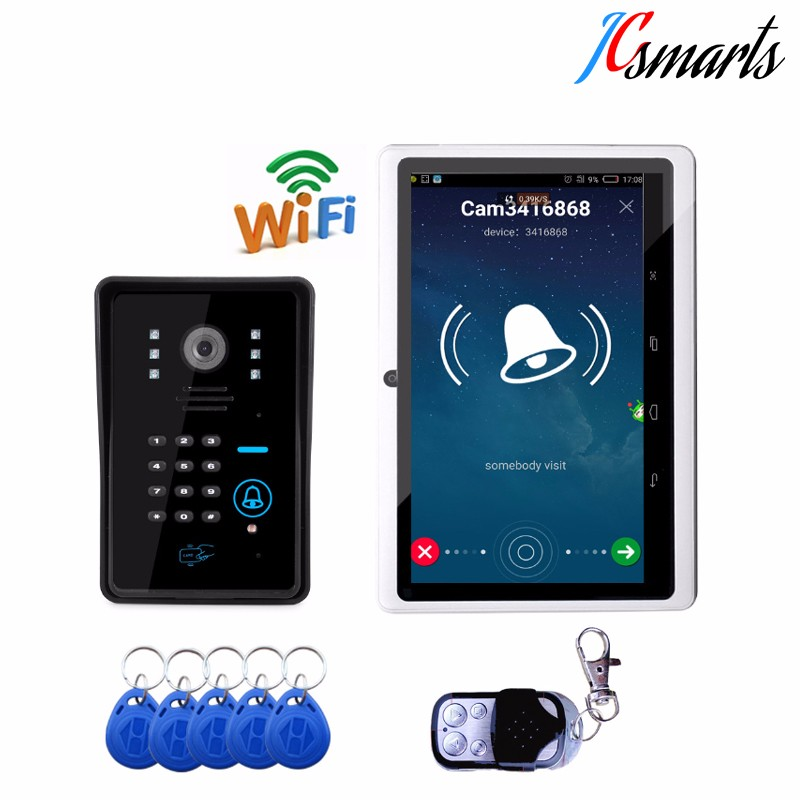 Clear voice wireless doorbell camera door intercom system