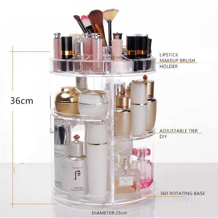 Wholesale Acrylic Mac Makeup Organizer With Lipstick Holder