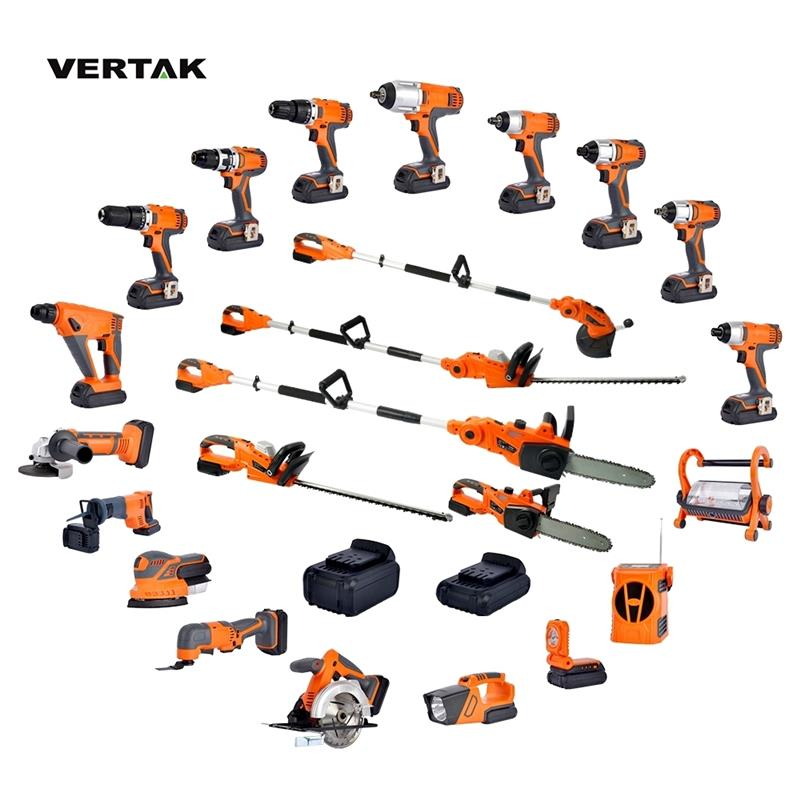 VERTAK 18V Cordless battery power tools combo <strong>kits</strong>