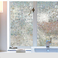 3d No Glue Static Decorative Privacy Window Films for Glass Non-Adhesive Heat Control Anti Uv