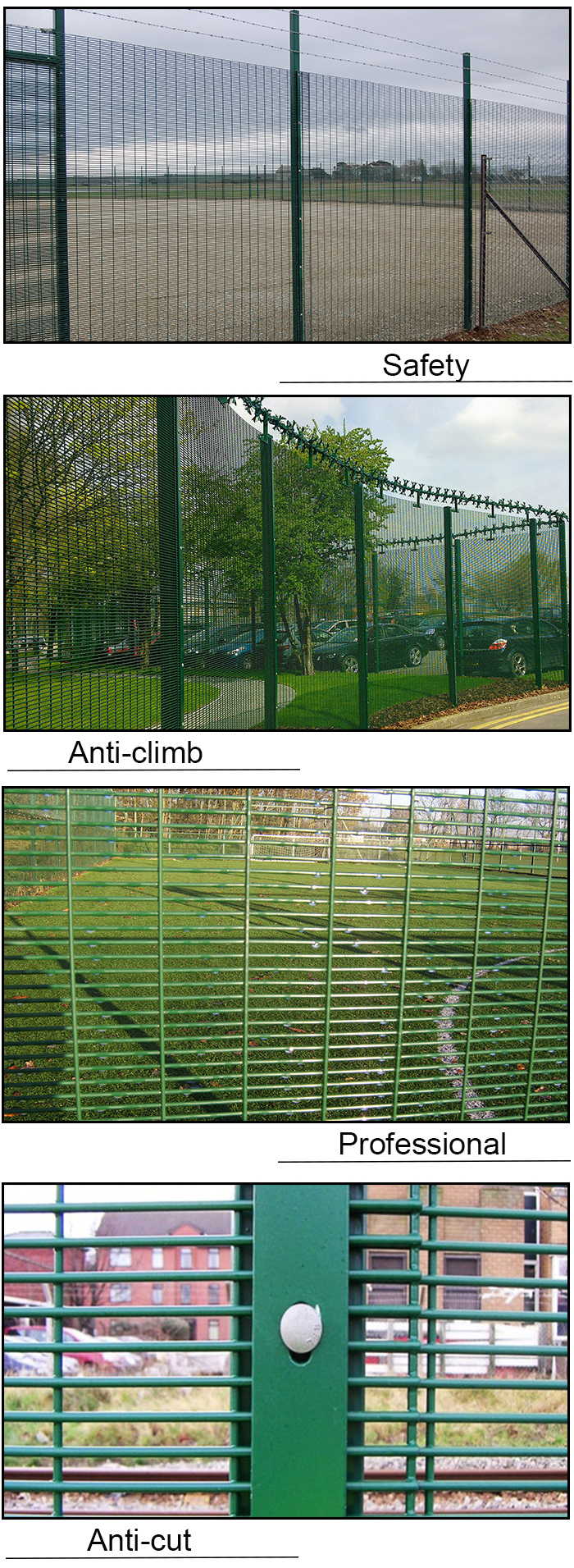 China Factory Pvc Coated High Security Anti-Climb Prison Welded Fence