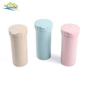 FLGB certification tumbler mug sports water bottle wheat straw cup for travel