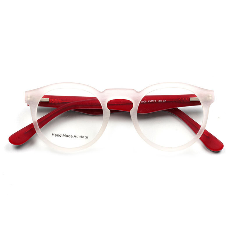 HJ Hand Made Acetate Frames Optical Clear Glasses Italy Design Diamond Myopia Reading Eyewear Glasses