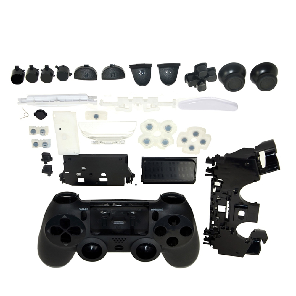 Full Set Housing Shell Case button mod kit Faceplate For PS4 controller