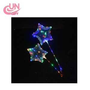 Hot Air Flasher Led Light Custom Shape Mylar Helium Tank Luminous Balloons Balloon For Party Decoration