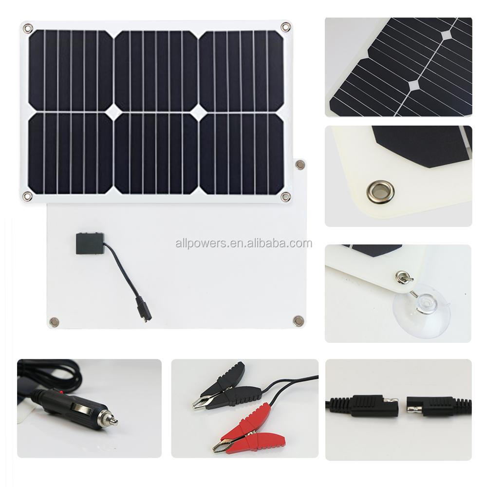 ALLPOWERS 12V 18V 18W Solar car battery charger maintainer