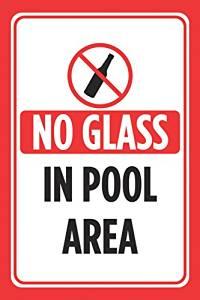 No Diving Sign Aluminum Notice Red White Black Swim Swimming ...