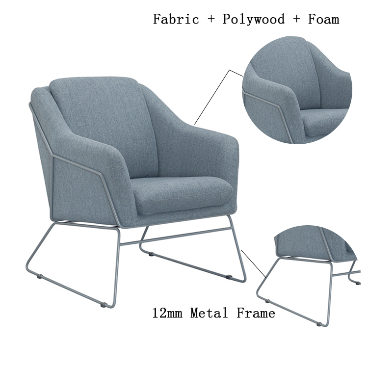 Modern Metal Frame Rest Sofa Chair Relaxing Floor Sofa ...