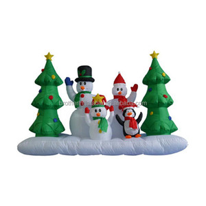 2018 Hot Sale X-mas Products Inflatable Christmas Tree and Santa