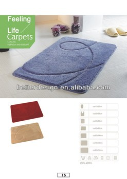 Hot Selling Solid Color Chenille Microfiber Jacquard Bath Mat