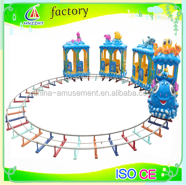 Most Popular Outdoor Playground amusement Fiberglass Outdoor Kids Track Train With Various Models