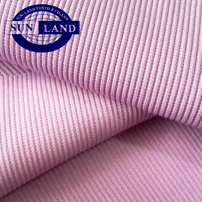 95 polyester 5 spandex 2x2 rib knit fabric