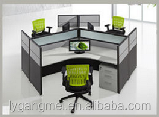 Luxury modular cubicle 3 person office workstation/office furniture