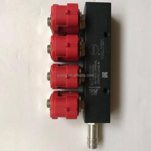 cylinder engines cng lpg common injector rail/red+black rail injector