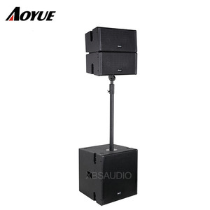 Passive 5 inch 2-Way line array system coaxial horn speaker for conference