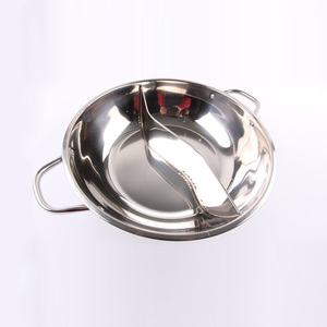 Durable double bottom 24cm Stainless Steel hot pot two flavor soup pot stock pot