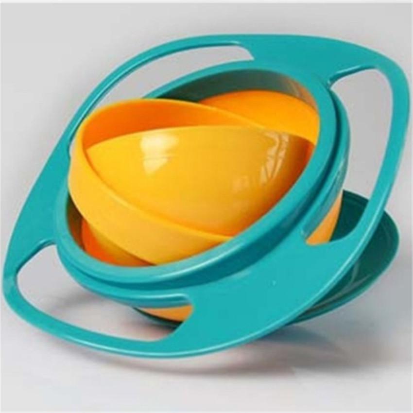 Горячие продаж! Детское питание посуда вращающегося барабана детей пластины присоски чаши с крышкой прочный и хорошо очистки избежать пищевых демпинг