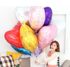 30inch 75*75cm giant multicolor love balloons heart shape foil helium balloon for wedding decoration