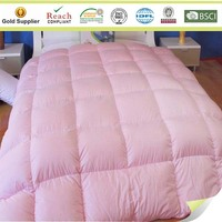 Eco down filled pink down comforter 10.5 tog duck down quilt