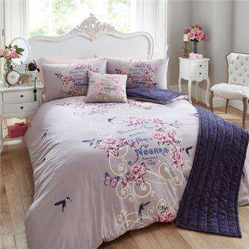 Fl European Duvet Covers Design Double King Size Quilt Cover With High Quality