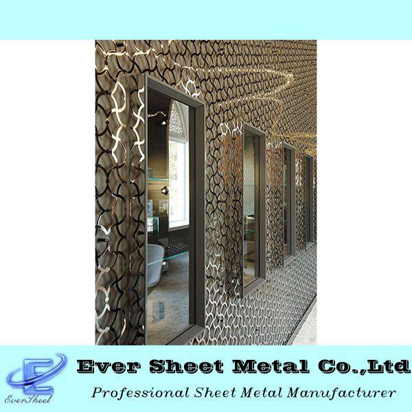 painis de telas decorativas folha decorativa de metal ao ar livre exterior tela de ao cortado