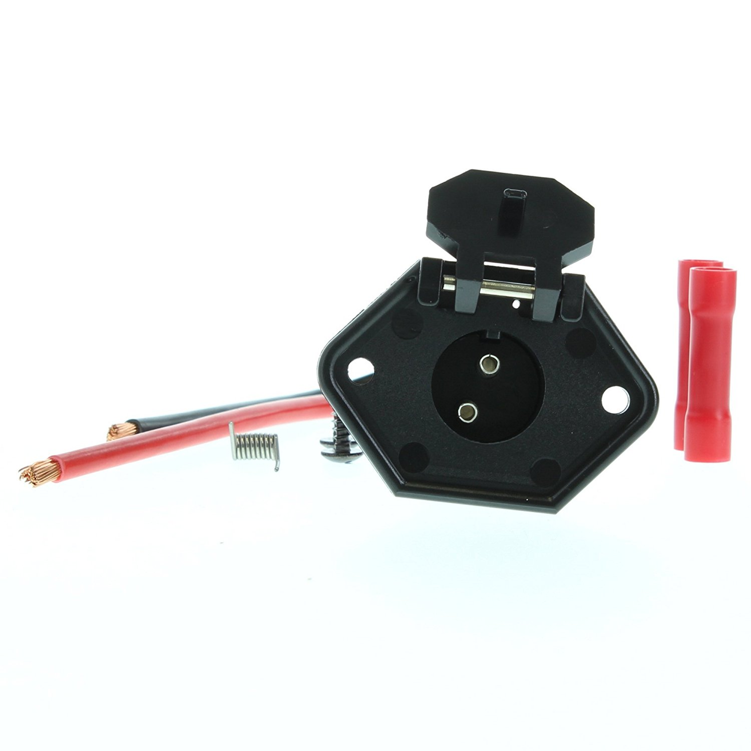 Buy Seasense Male Boat Side Trolling Motor Connector With 8 Gauge 3 Plug Wiring Diagram Wire Connecter 2 Prong