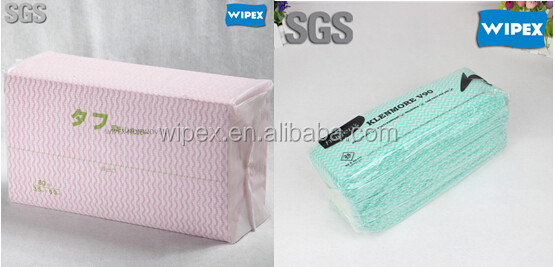 Hydro-entangled dry disposable non-woven handy wipes