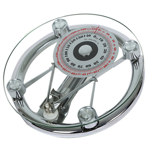 8mm Tempered Glass Round Mechanical Personal Bathroom Weighing Scale
