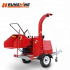 CE approved forestry machinery 22hp cheap diesel wood chipper