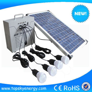best 40w portable dc stand alone mini solar lighting system kit for