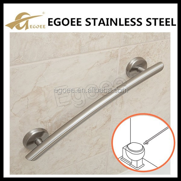 Decorative stainless steel sliding glass door handle, bathroom accessory