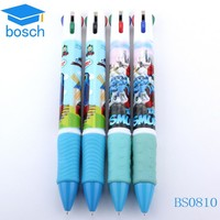 2017 promotional gifts plastic ball pen 4 color changing ink pen