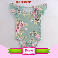 Baby frock top 100 baby names image wholesale kid clothes baby cotton printed floral style playsuit onesie flutter sleeve romper