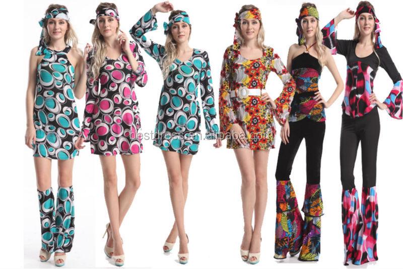 Instyles 60s 70s Fancy Dress Costume Flower Power Hippy Hippie Retro