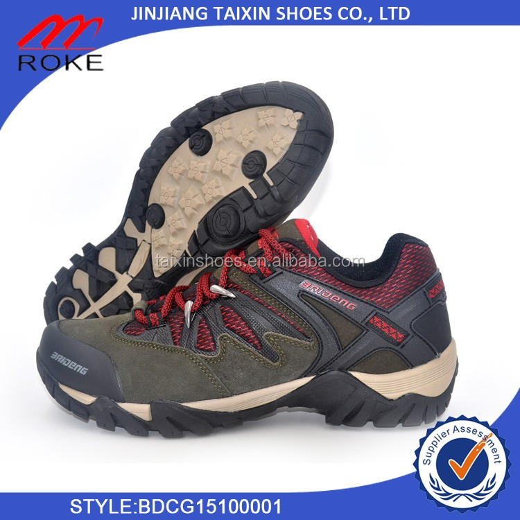 Wholesale factory sports hiking shoes mens climbing shoes