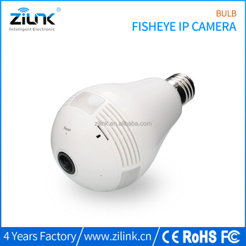 Smart home security cctv products new 960p panoramic mini bulb ip camera