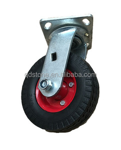 6 inch solid PU foam caster wheel with swivel bracket