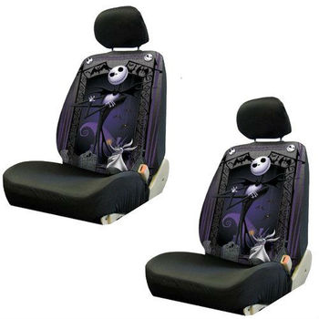 Fabulous Nightmare Before Christmas Jack Skellington Graveyard Car Truck Suv Low Back Bucket Seat Covers Buy Car Accessories Interior Van Seat Covers Truck Bralicious Painted Fabric Chair Ideas Braliciousco