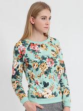Moderní dámská mikina s květinovým vzorem z Aliexpress