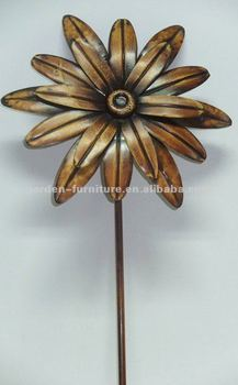 Metal Flowers And Garden Stakes Plant Stake Cast Iron Outdoor Decor  Wholesale