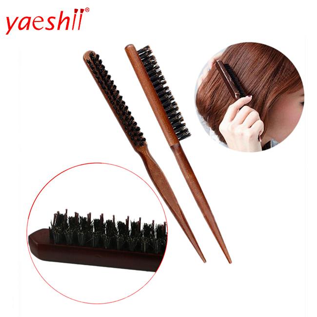 Yashi Hair Brush Hairdressing Hairdresser Brushes Teasing Back Combing Brushes Slim Line Styling Comb Tools